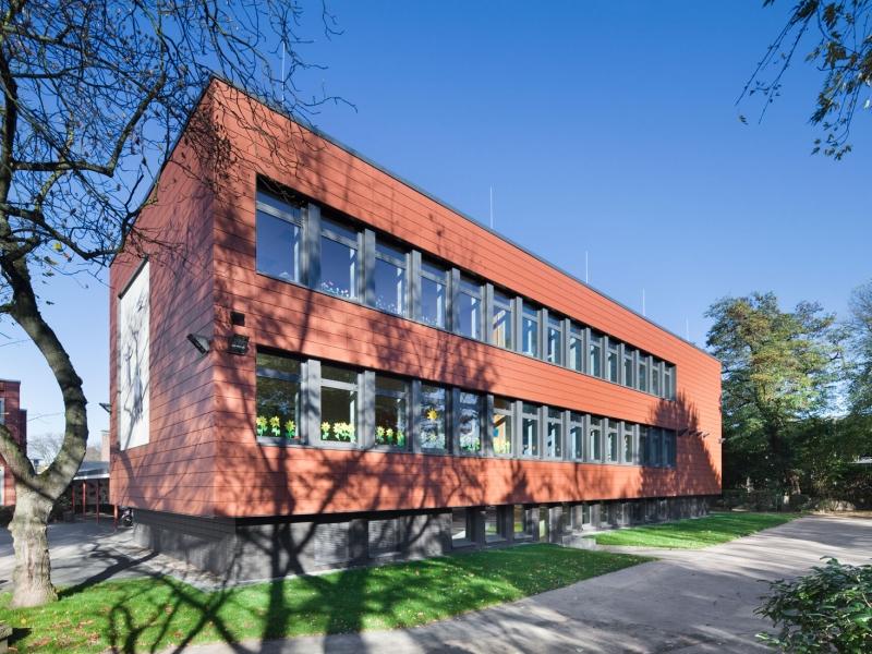 Architekt Bonn Bodelschwinghschule Friesdorf Energetische Sanierung Bodelschwinghschule, Abbruch, Jugendwohnheim, Koenigs Rütter Architket, Fassade