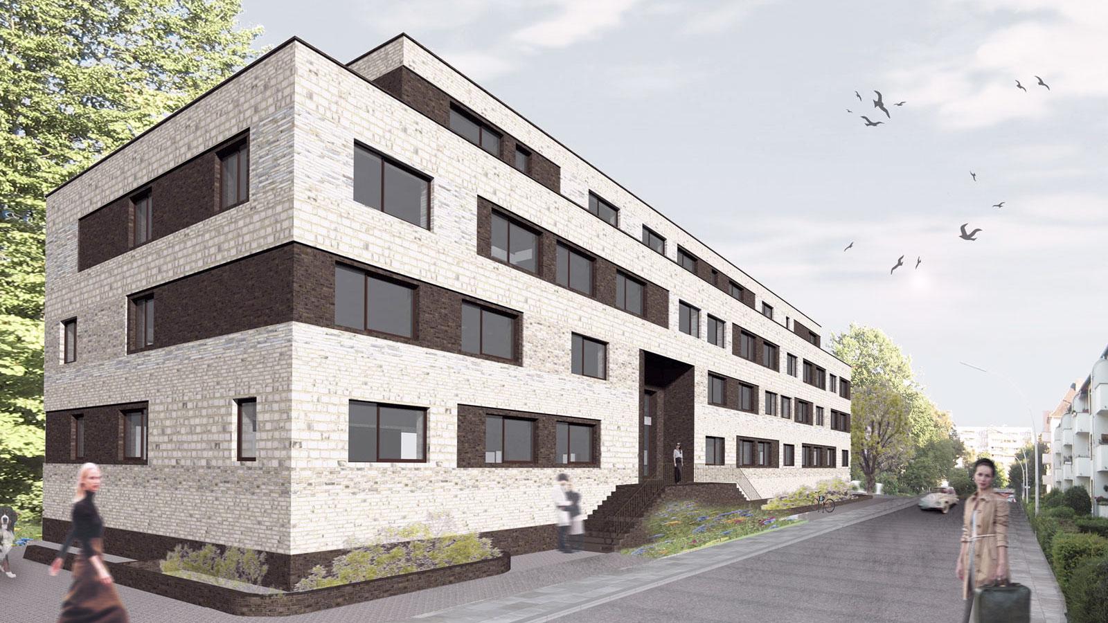 studentenwohnheim drususstra e architekturb ro koenigs. Black Bedroom Furniture Sets. Home Design Ideas