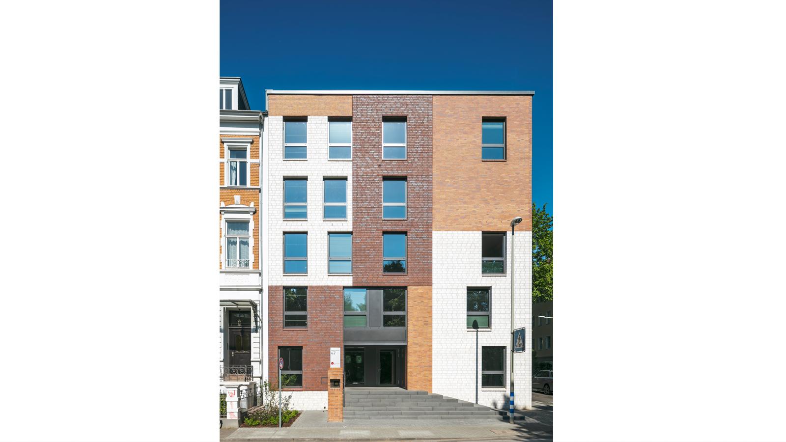 Studierendenwohnheim Kaiserstraße, Architekt Bonn, Koenigs Rütter Klinkerfassade