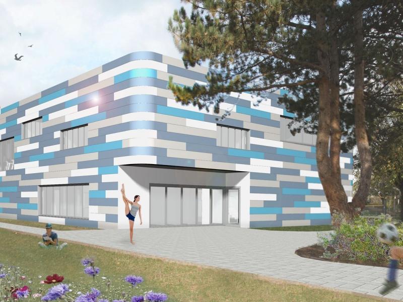 Architekt Bonn Turnhalle mit Kraftraum