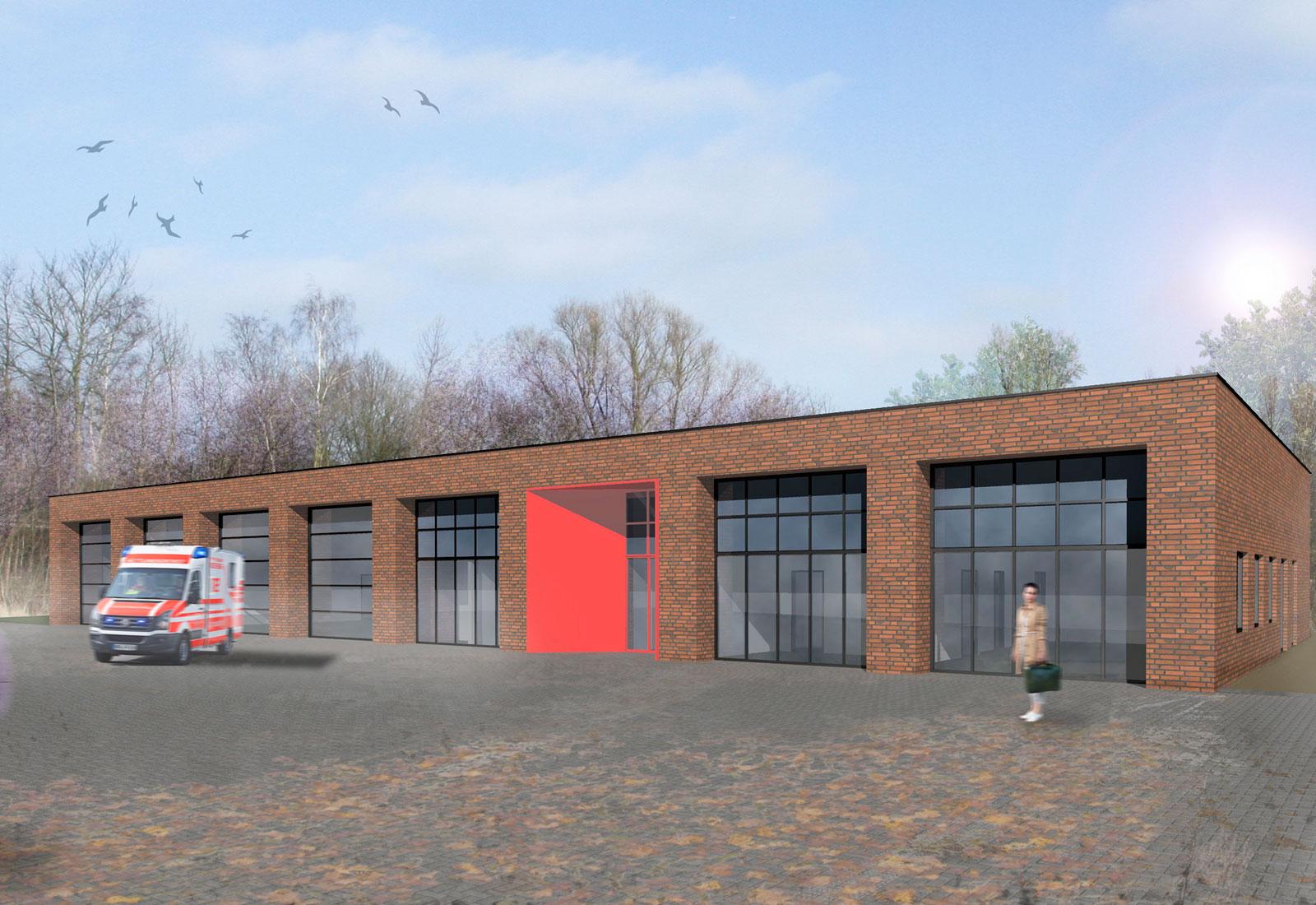 Rettungswache Heimerzheim Neubau Rettungswache, Architekt Bonn