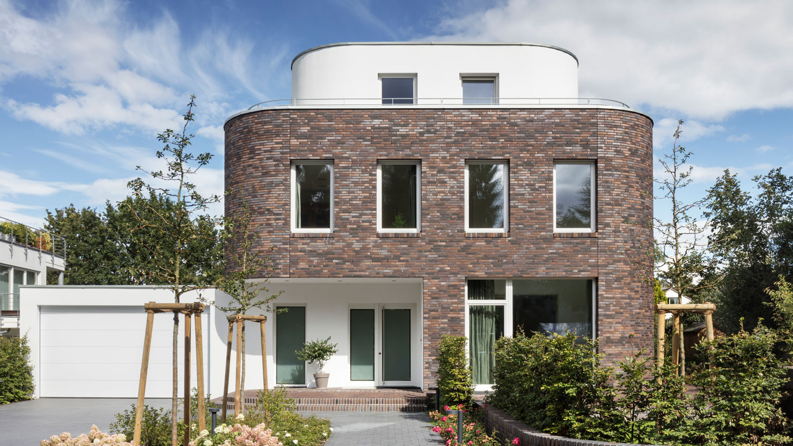 Einfamilienhaus im Johanniterviertel Ansicht neubau klinker