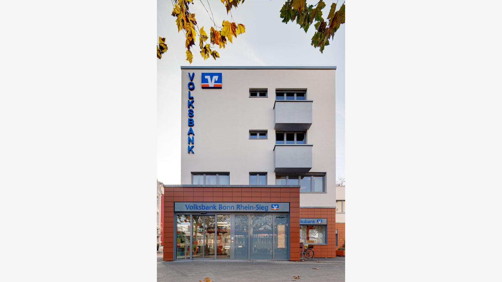 Volksbank am Moltkeplatz, Architekt Bonn, Energetische Modernisierung Volksbank, Koenigs Rütter Architket