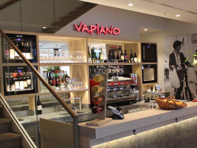 Vapiano takeaway Bereich