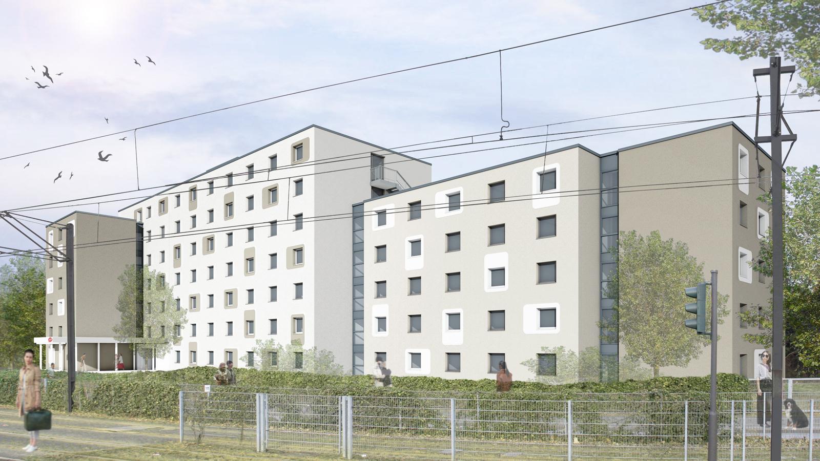 Baubeginn Studierendenwohnheim Pariserstraße, Architekt Bonn