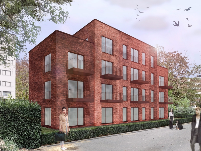 Architekt Bonn Neubau Apartmentwohnungen - 14 Apartments in Bonn-Auerberg, Nachverdichtung, Neubau, Wohnen, Mehrfamilienhaus - Koenigs Ruetter Architekten