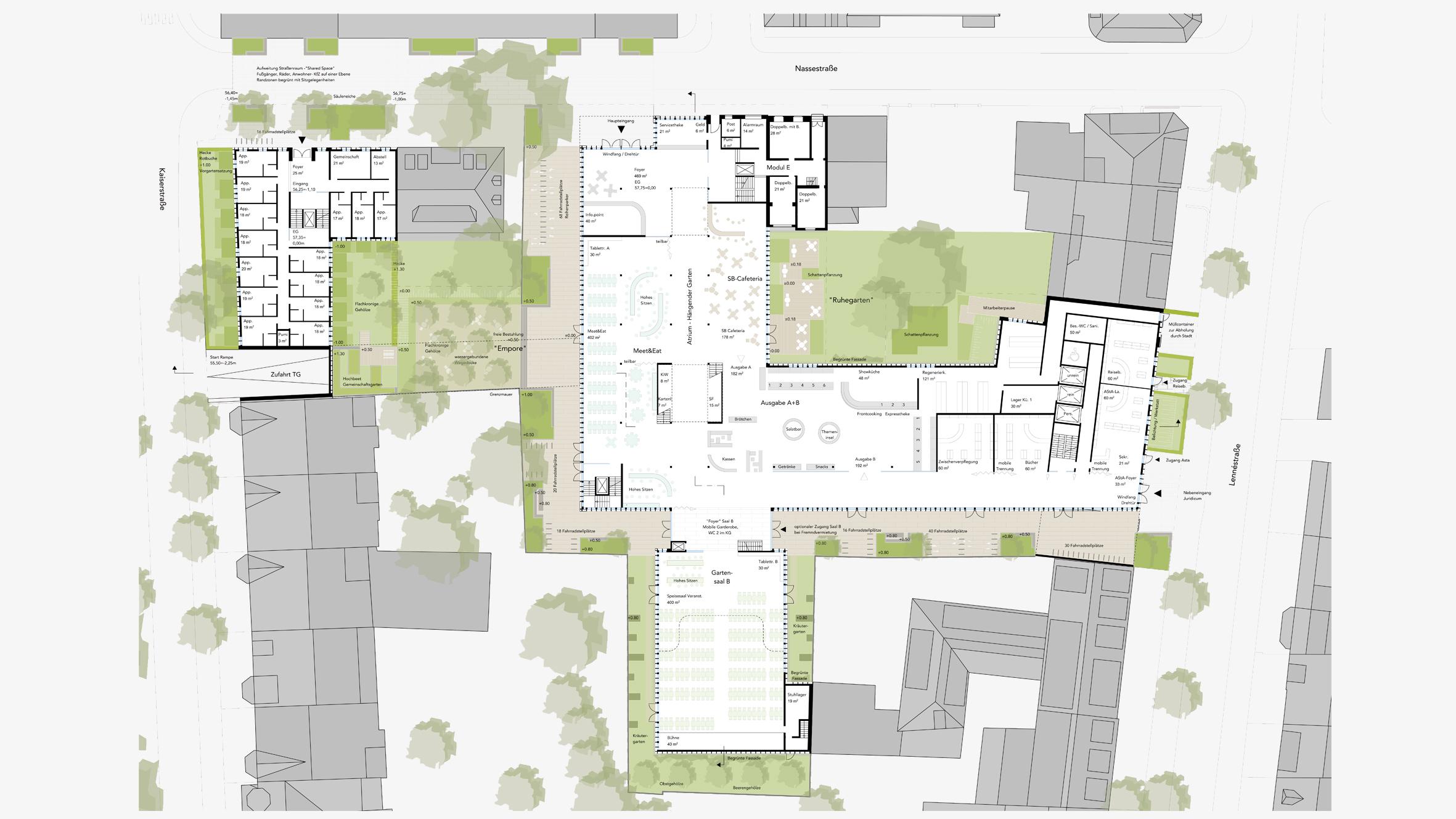 Architekt Bonn Wettbewerb Carré Nassestraße - Koenigs Rütter Architekt Bonn